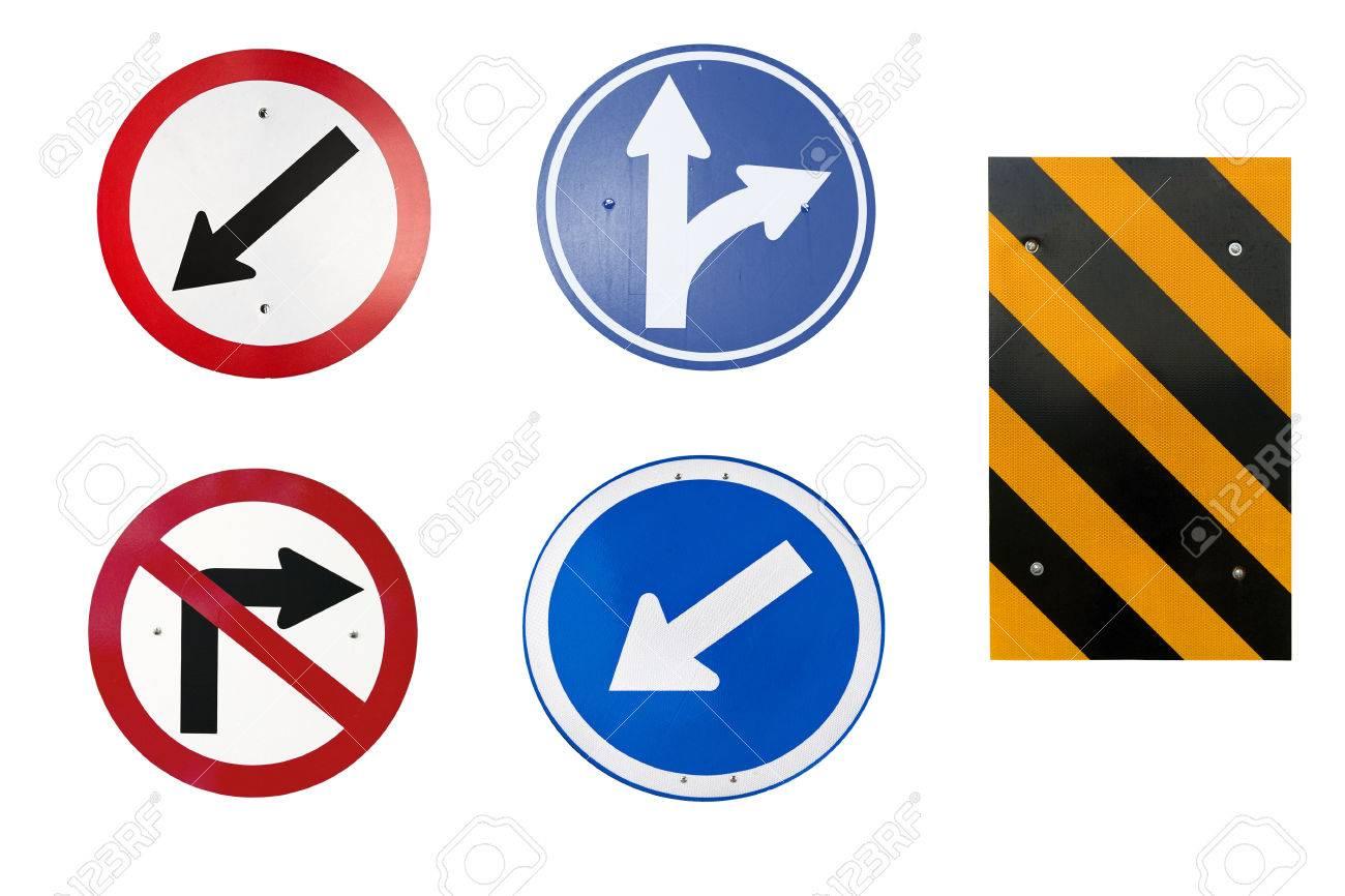 Ensemble De Panneaux De Signalisation Anglais Isole Sur Blanc Banque D Images Et Photos Libres De Droits Image 67672614