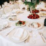 Restaurant Table With Food Catering Service Wedding Celebration Stock Photo Picture And Royalty Free Image Image 144760621