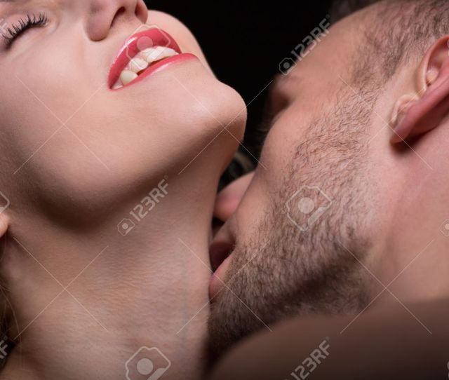 Close Up Of Passionate Couple In Erotic Foreplay Stock Photo 43838211