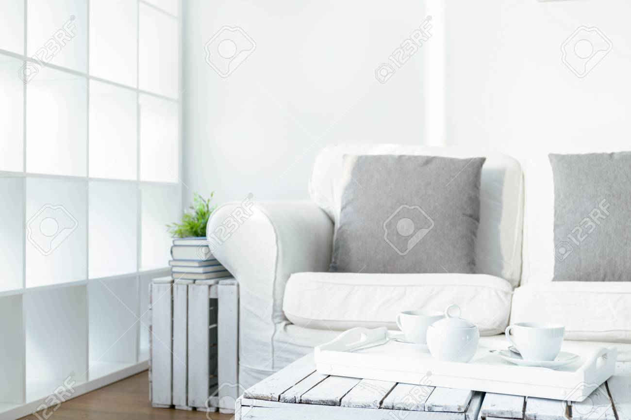 https www 123rf com photo 57237953 white cozy lounge in scandinavian style on the coffee table tray with cups of coffee html