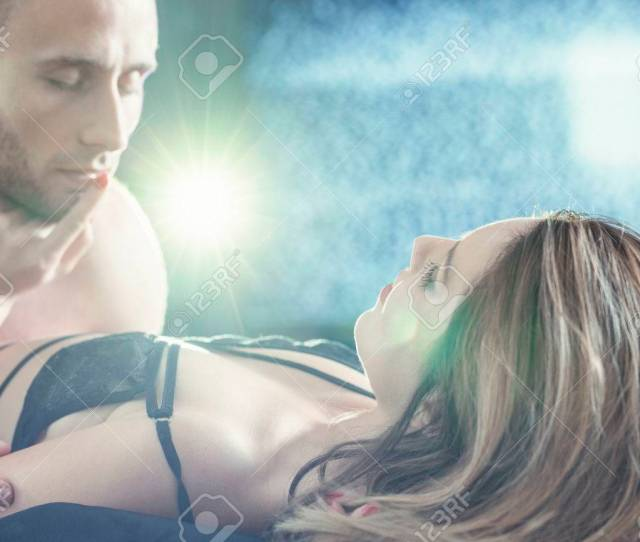 Sensual Attractive Young Couple During Erotic Sex Foreplay Stock Photo 65562918