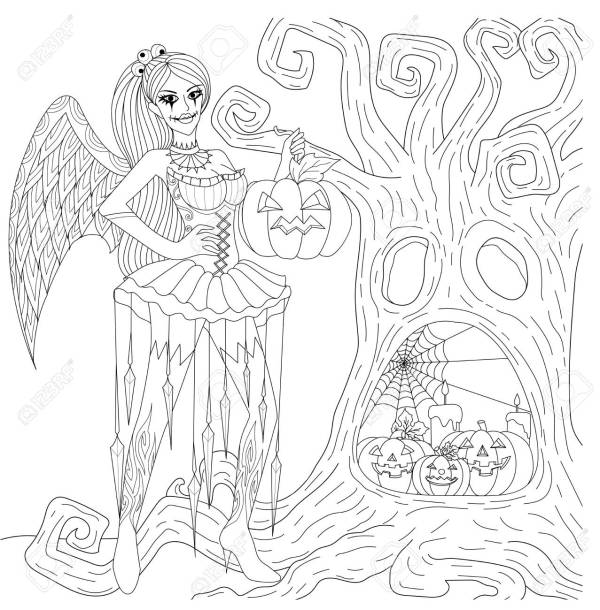 gothic coloring pages # 2