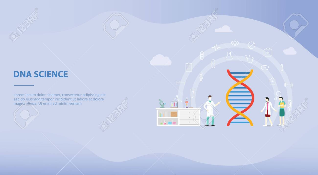 Genetic Engineering On The Laboratory With Team People Doctor