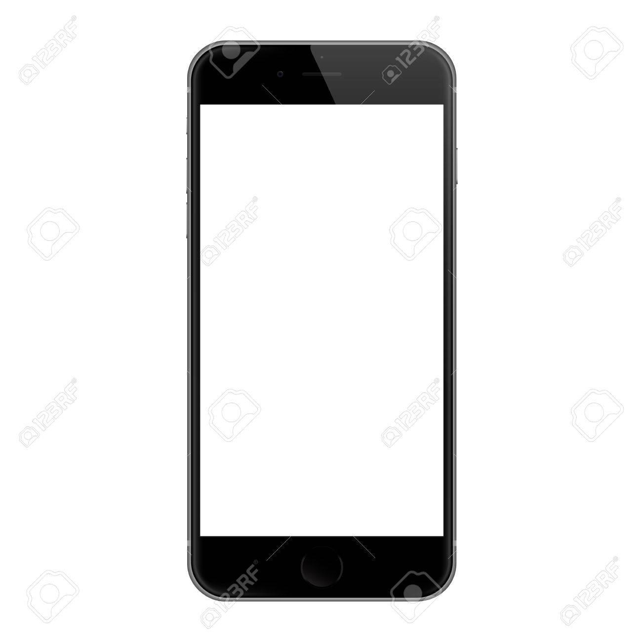 bangkok thailande 7 dec 2015 conception de vecteur d ecran blanc iphone 6 realiste iphone 6 developpe par apple inc