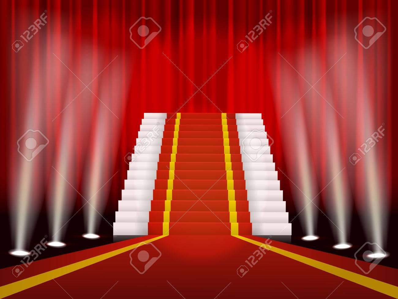 tapis rouge pour la ceremonie et escalier enrichissante