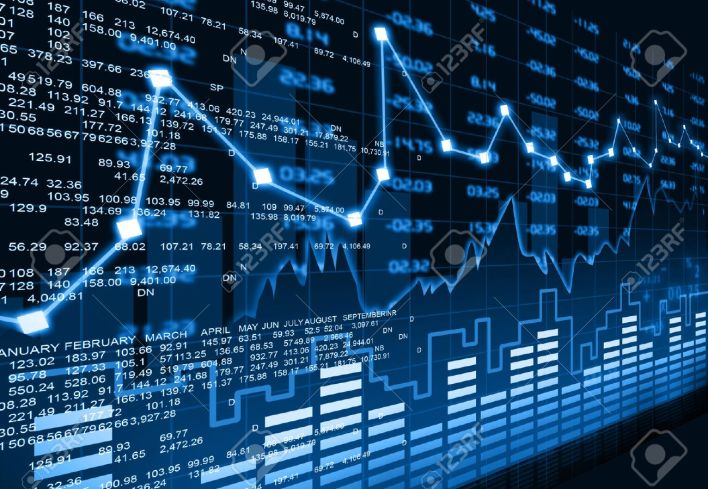 stock market chart stock photo, picture and royalty free image. image 36956160.