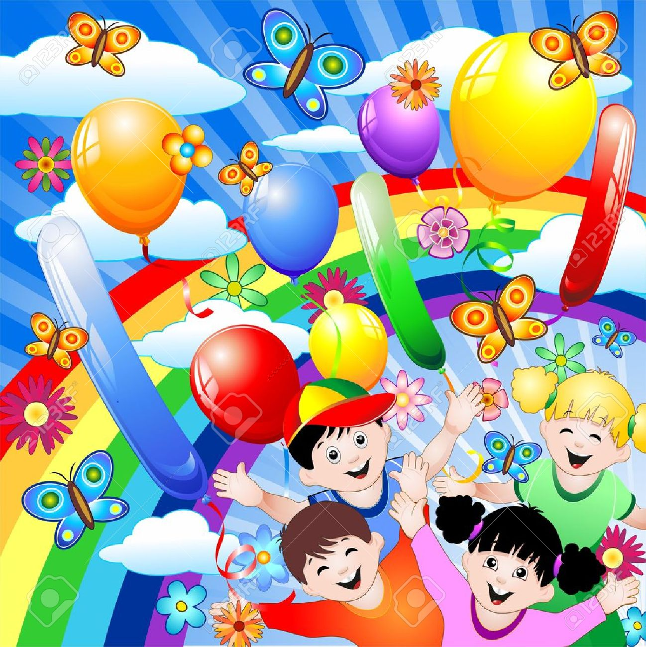 Happy Birthday Children Kids Royalty Free Cliparts Vectors And Stock Illustration Image 10509127