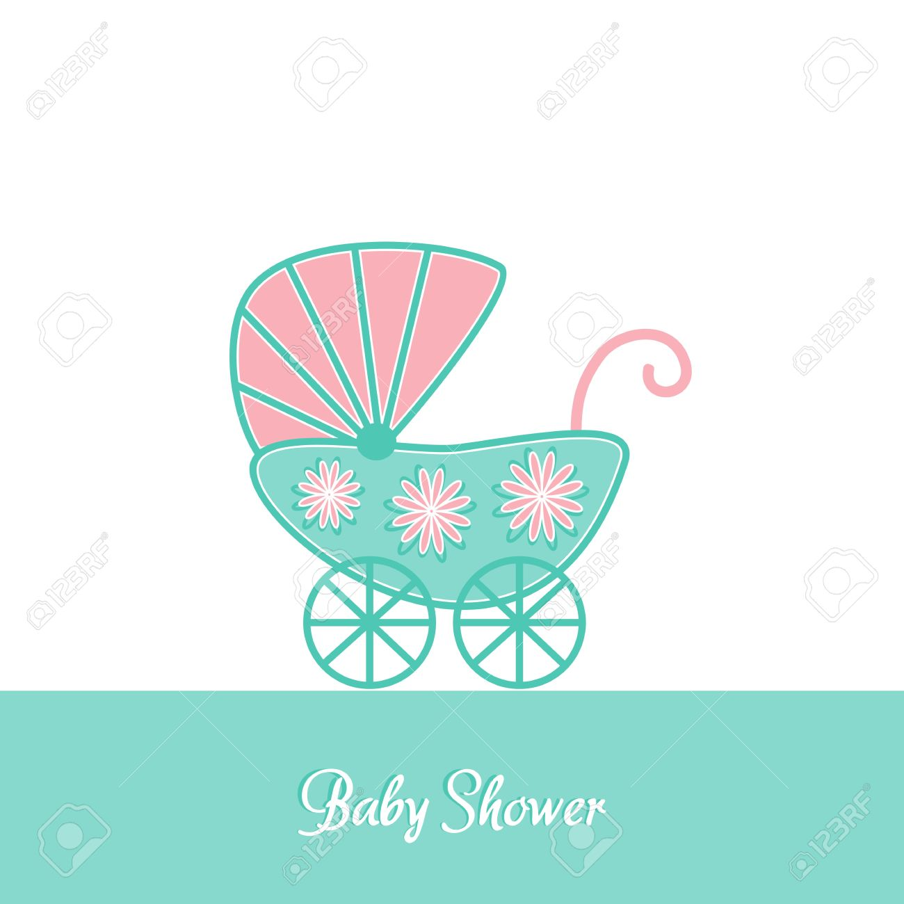 Baby Shower Card Template. baby shower vintage invitation card ...