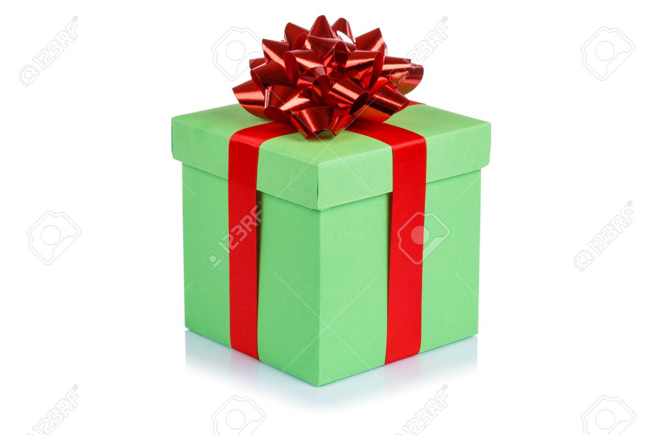 Birthday Gift Christmas Present Light Green Box Isolated On A Stock Photo Picture And Royalty Free Image Image 109572489