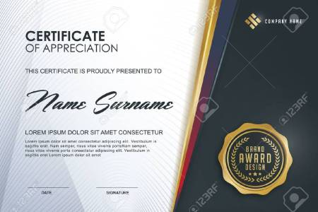 Certificate Template With Luxury And Modern Pattern xA Qualification     certificate template with Luxury and modern pattern xA Qualification certificate  blank template with elegant