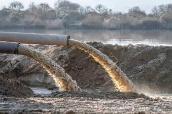Industrial Effluent, Pipeline Discharging Liquid Industrial Waste ...