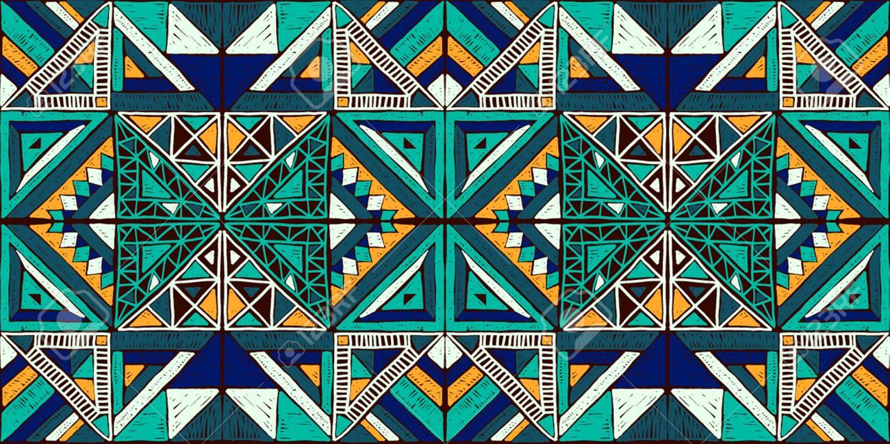 motif africain geometrique sans soudure ornement ethnique sur le tapis style azteque texture de vecteur ethnique tribal broderie sur tissu