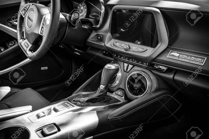 Berlin June 09 2018 Interior Of The Muscle Car The Chevrolet Stock Photo Picture And Royalty Free Image Image 110049081