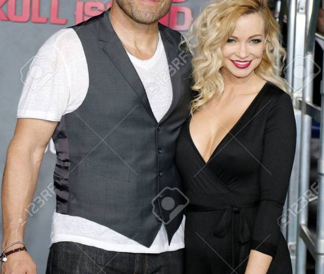 Randy Couture And Mindy Robinson At The Los Angeles Premiere Of Kong Skull Island