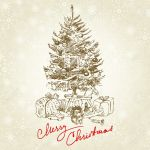 Hand Drawn Vintage Christmas Tree Royalty Free Cliparts Vectors And Stock Illustration Image 14968907