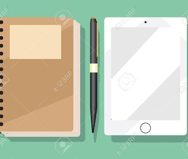 Spiral Notebook With Tab Stock Vector 52623013