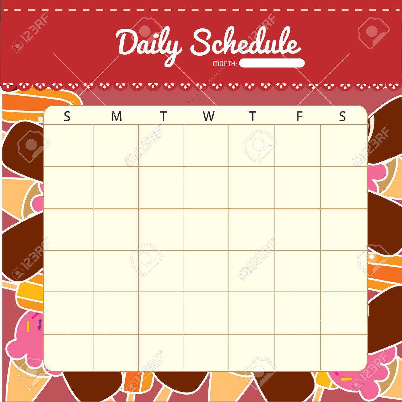Blank Daily Planner Template Free Printable Excel Excel April 2016
