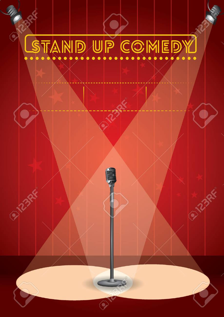 stand up comedy poster design