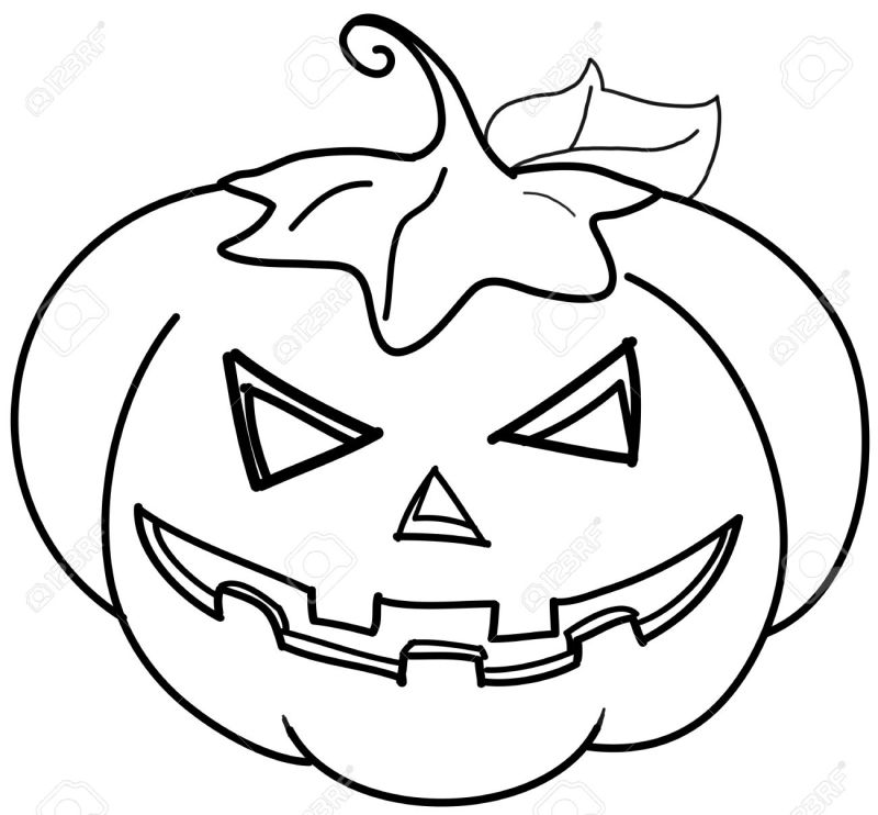 Calabaza De Halloween Para Colorear   Cartoonsite.co