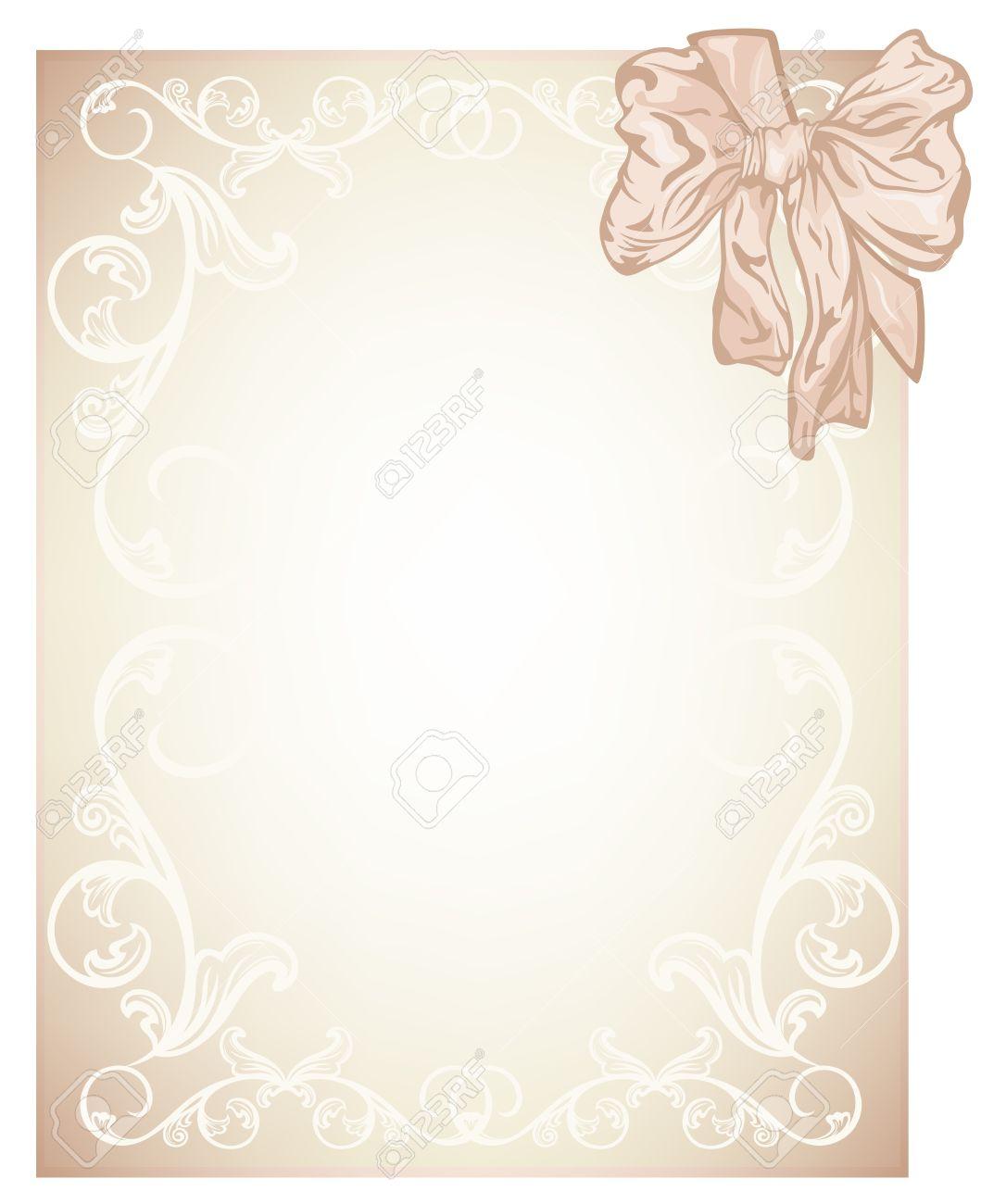 elegant beige blank for wedding invitation or certificate card