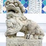 Huterin Fu Hund Skulptur In Der Thai Tempel Lizenzfreie Fotos Bilder Und Stock Fotografie Image 32569337