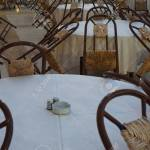 Rustic Restaurant Tables And Chairs For Dinner Stock Photo Picture And Royalty Free Image Image 33044936