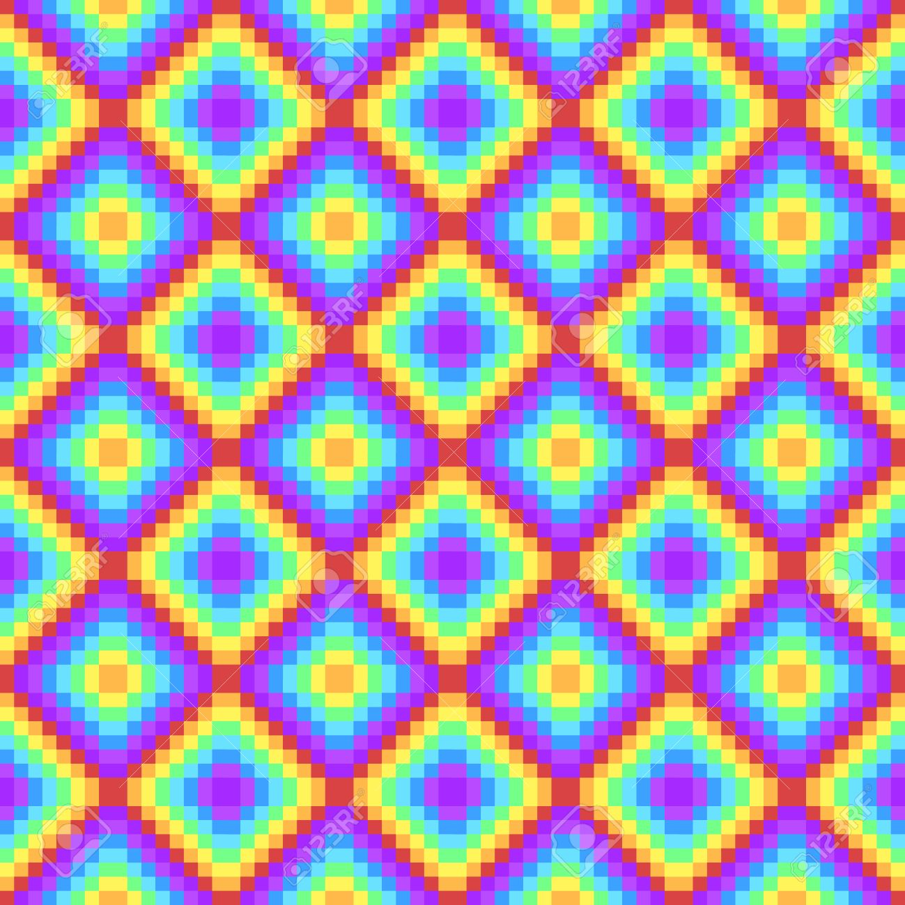 Pixel Art Rainbow Colored Psychedelic Background Royalty Free Cliparts Vectors And Stock Illustration Image 44683949