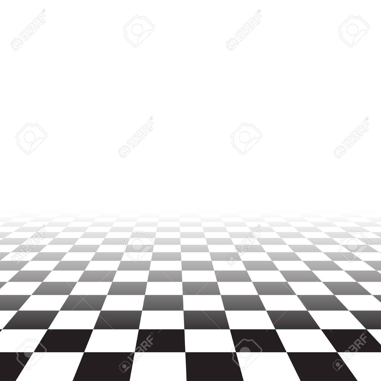 black white random square mosaic tiles background perspective