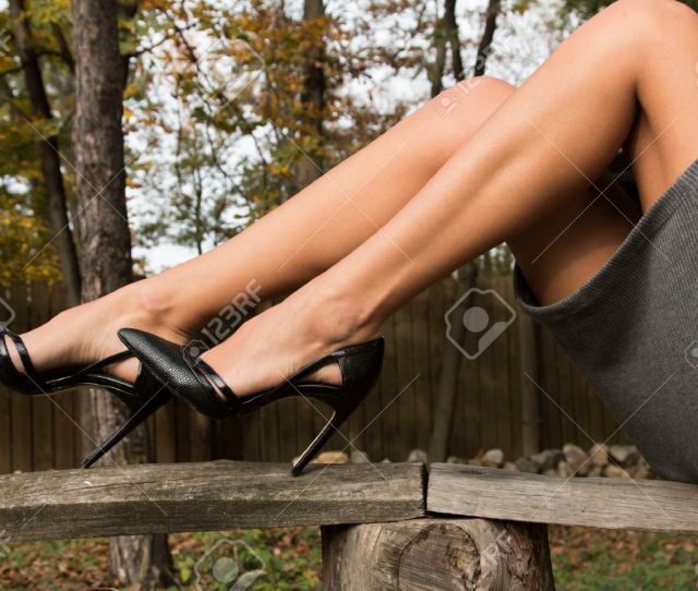 Feminine Sexy Legs In Heels Stock Photo 69629100