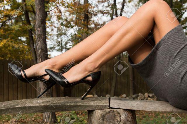 Feminine Sexy Legs In Heels Stock Photo 69629100