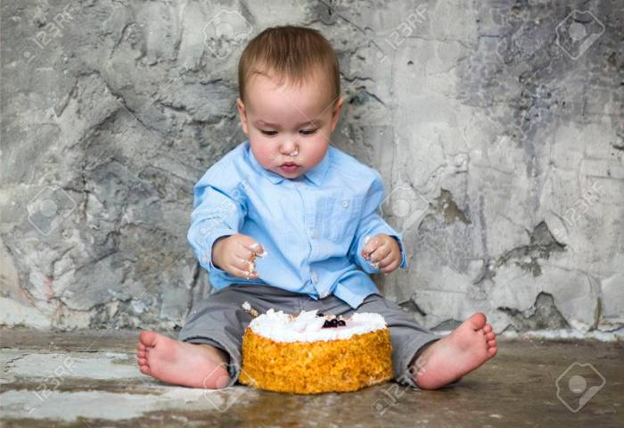 First Birthday Cake Smashed By Baby Boy Adorable Baby Smashing