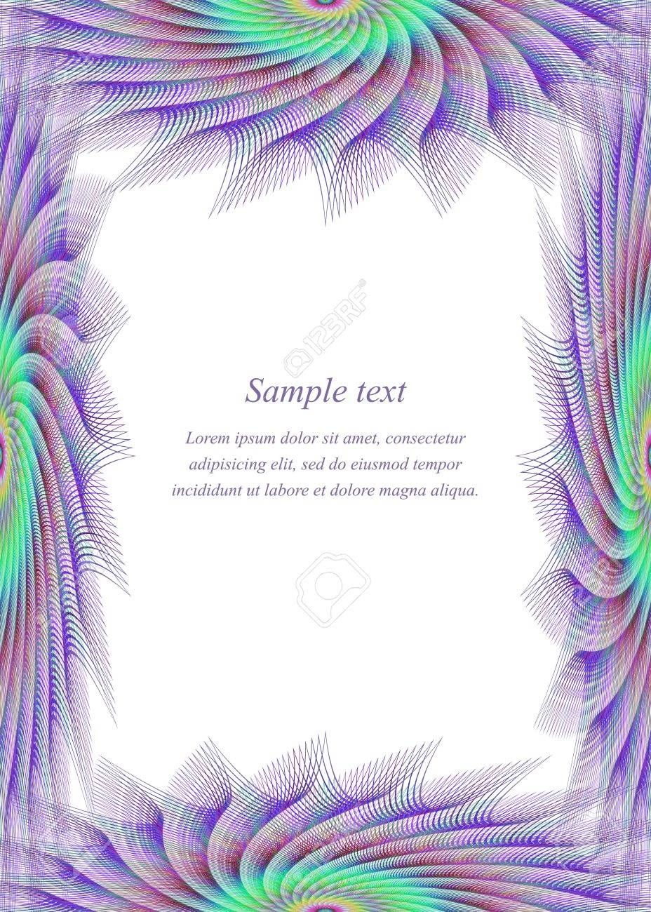 Colored Fractal Ornament Page Border Design Template Royalty Free Cliparts Vectors And Stock Illustration Image 47388365