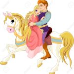 Prince And Princess On White Horse Royalty Free Cliparts Vectors And Stock Illustration Image 10214666