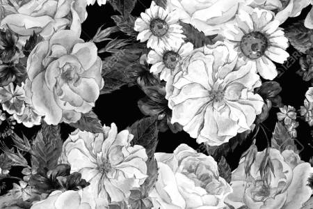 Blue black and white flowers flower shop near me flower shop white mid century modern floral cocktail lonely angel blue and white wallpaper peacoquettedesigns spoonflower black and white flower names gallery mightylinksfo