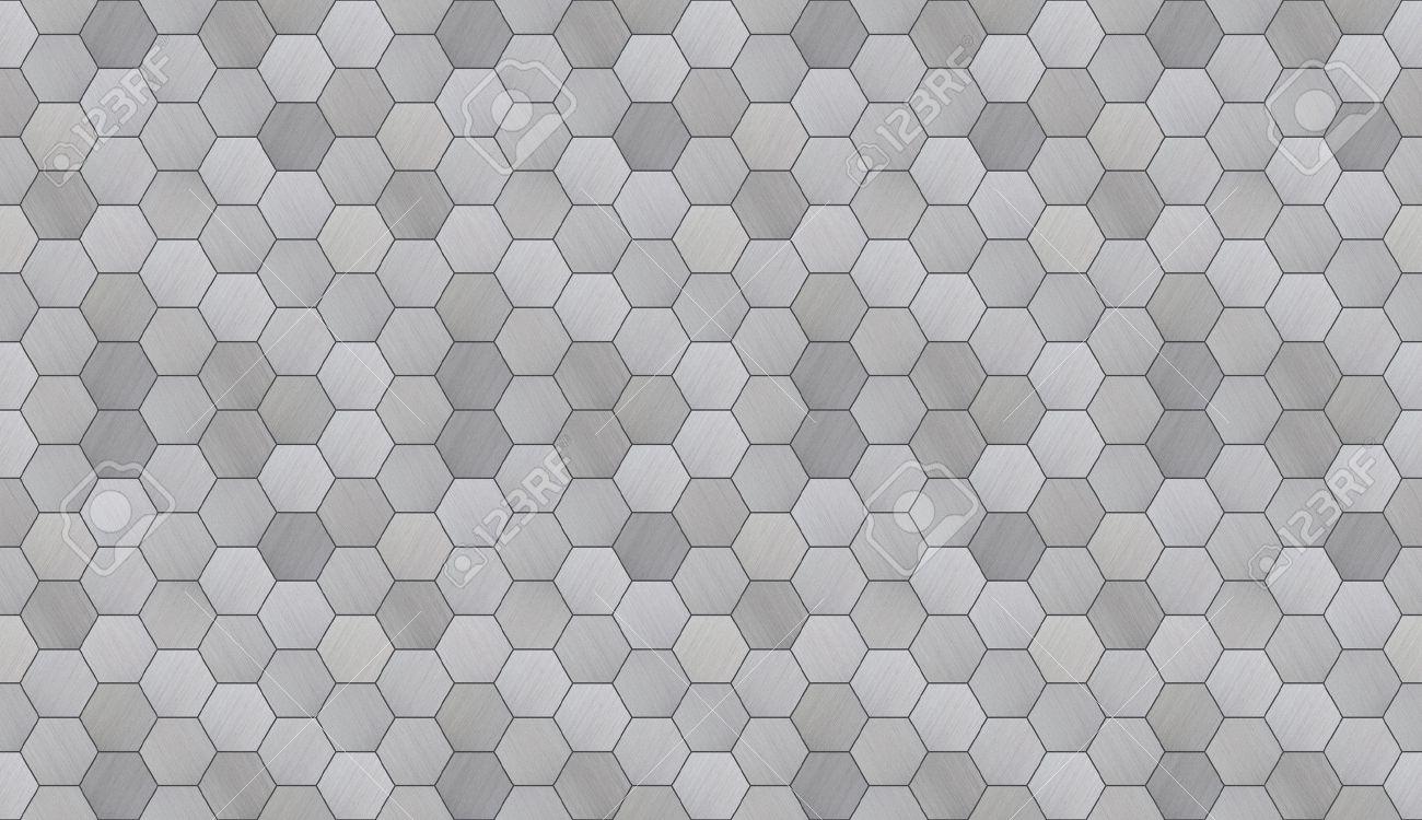futuriste hexagonal aluminium carrele seamless texture