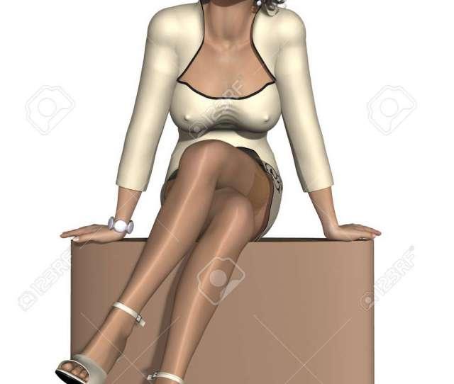 Sexy Business Woman Stock Photo 9764255