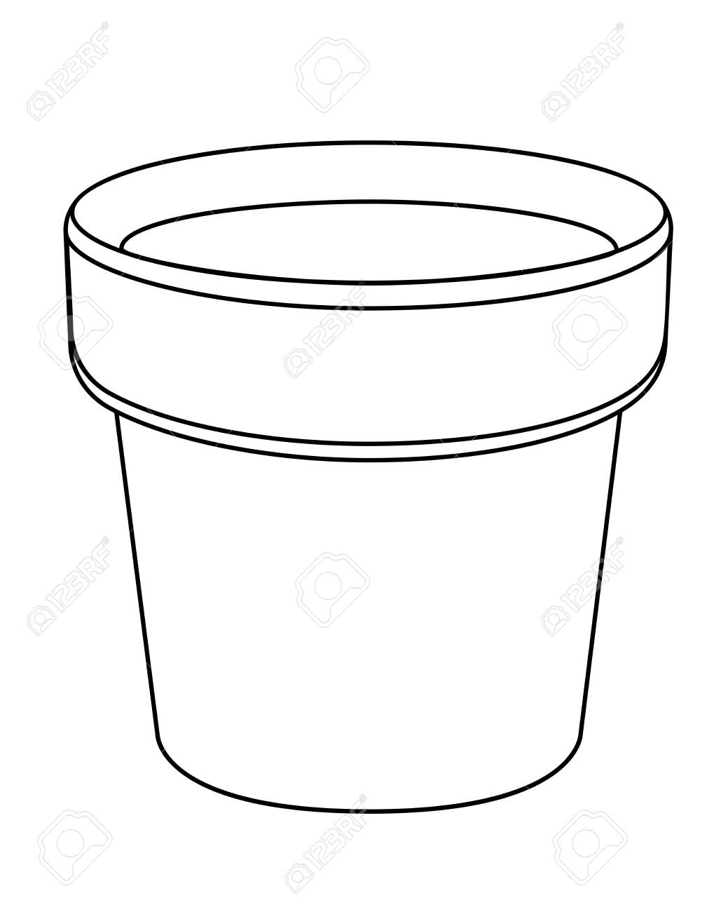 Empty Flower Pot Vector Template Cache Pot For Indoor Plants Royalty Free Cliparts Vectors And Stock Illustration Image 139822416
