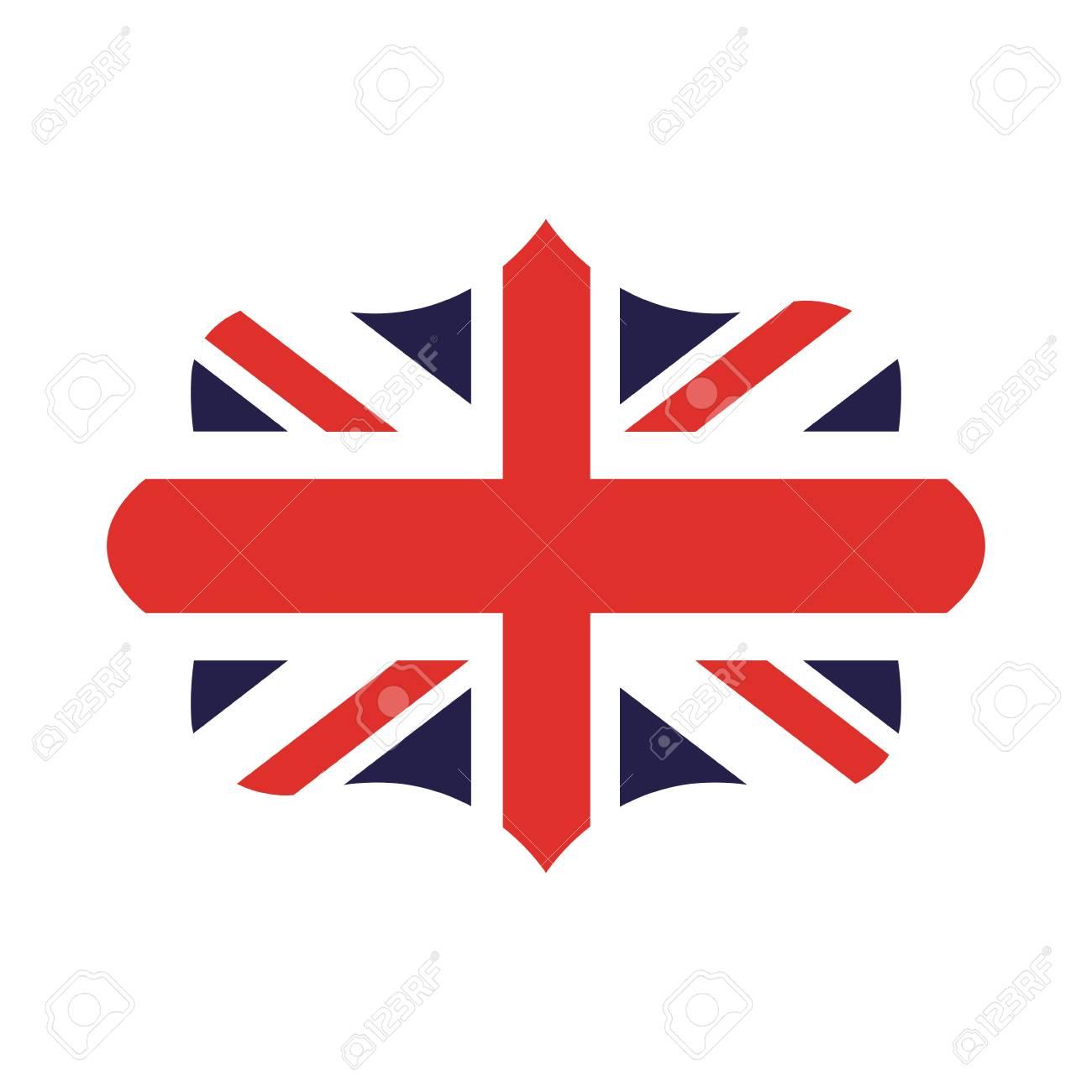 Drapeau Angleterre Isole Icone Dessin Vectoriel Clip Art Libres De Droits Vecteurs Et Illustration Image 64648962