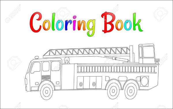 firetruck coloring pages # 85