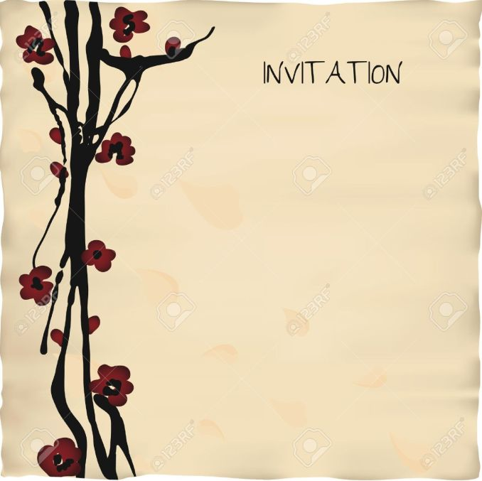 Invitation card wallpaper hd newsinvitation anese or chinese style invitation card template stock vector 20633439 stopboris Image collections