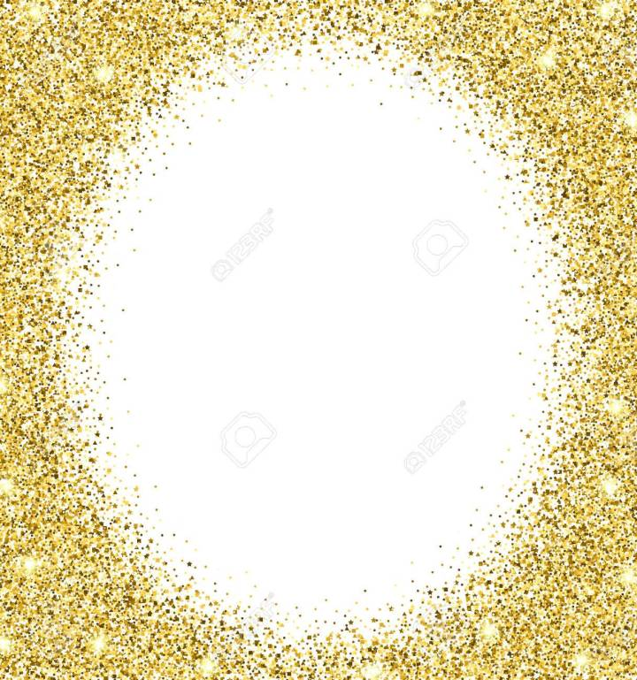 Gold Glitter Frame Png | Framess.co