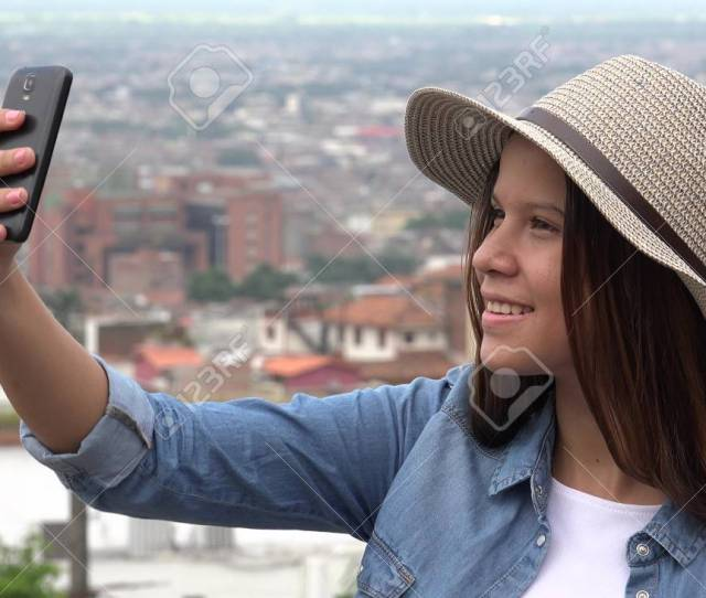 Stock Photo Teen Girl Taking Selfies