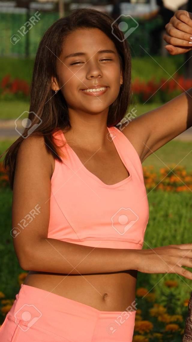 Slender Teen Girl Stock Photo 76086748