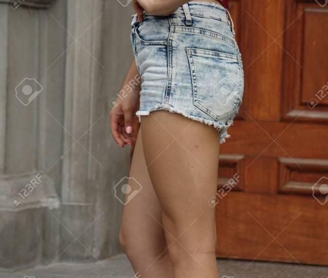 Legs Of Thin Teen Girl Stock Photo 76339653