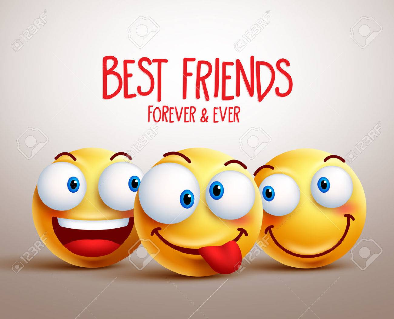 Best Friends Smiley Face Vector Design Concept With Funny Facial Royalty Free Cliparts Vectors And Stock Illustration Image 56962262