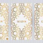 Set Of Cards In Golden Color On Light Grey Business Templates Royalty Free Cliparts Vectors And Stock Illustration Image 87571826