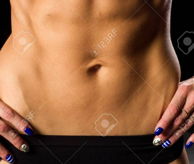 Girl In A Bikini Athletic Body Of A Girl Tummy Girl With Muscle Relief
