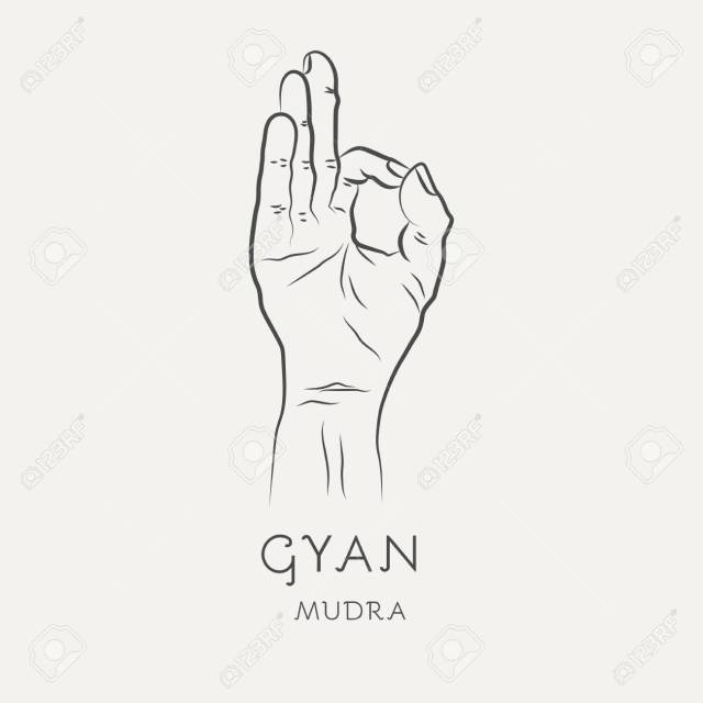 Gyan Mudra Or Chin-mudra - Gesture In Yoga Fingers. Symbol In.. Royalty  Free Cliparts, Vectors, And Stock Illustration. Image 122499798.