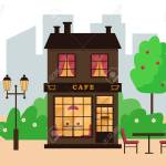 Street Cafe Building In Modern City Cafe Exterior Vector Illustration Royalty Free Cliparts Vectors And Stock Illustration Image 135194628