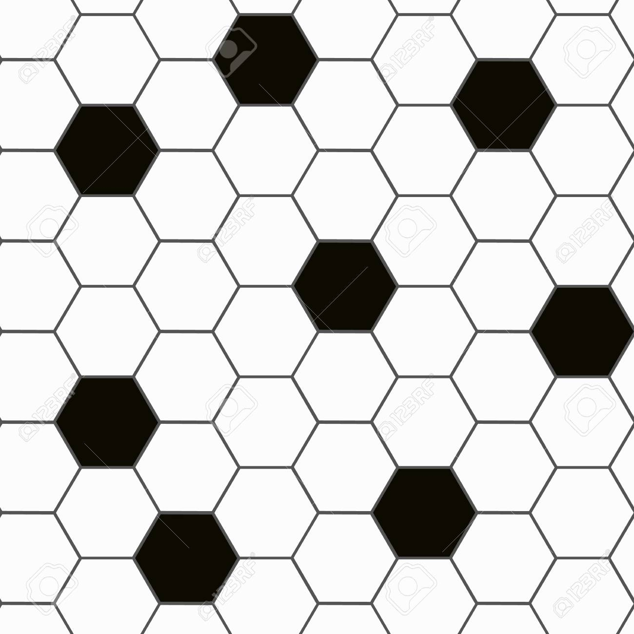 black and white hexagon tile seamless background pattern eps